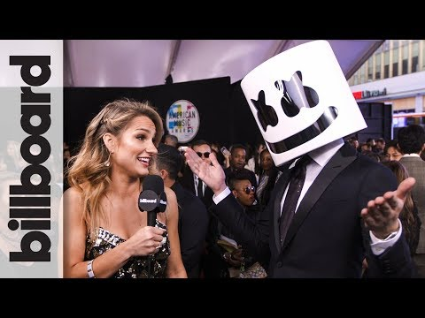 Marshmello on Working With Selena Gomez for 'Wolves' | AMAs 2017