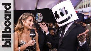 Marshmello on Working With Selena Gomez for 'Wolves' | AMAs 2017