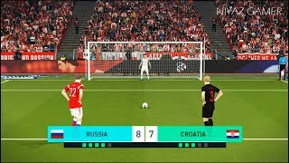 RUSSIA vs CROATIA | Penalty Shootout | PES 2018 Gameplay PC