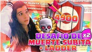 GANANDO el DESAFIÓ DE MUERTE SÚBITA Y LADDER + SORTEO 4 TARJETAS ANDROID (10$) | Clash Royale