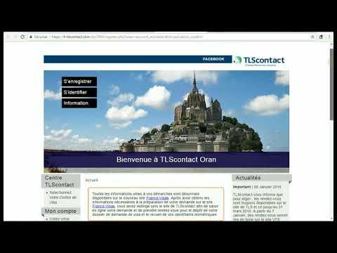 Rendez-vous TLScontact visa DZ-FR بالعربية - смотреть онлайн на