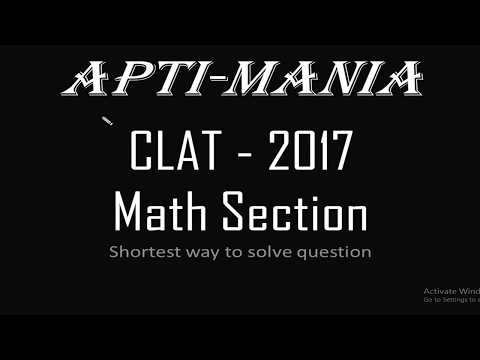 CLAT 2017 Actual Paper (Maths Section)