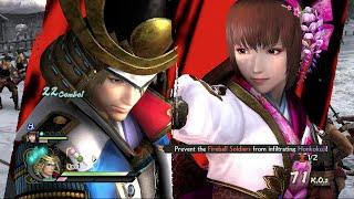 Samurai Warriors 4 [PS4] - Nagamasa Azai and Oichi Gameplay [1080p HD]