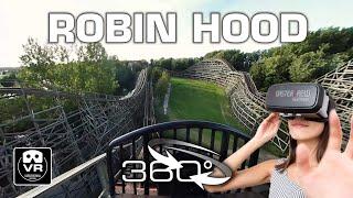 360° Roller Coaster Robin Hood | VR POV | Walibi Holland Achterbahn Montaña Rusa #360video