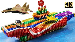 DIY - Cara Membuat Pesawat Induk Warna Dari Bola Magnet (Kepuasan) | Dunia Magnet 4K