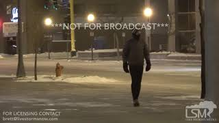 1-30-2019 Rochester, Mn -60 wind chill, extreme cold, blowing snow, people bundled, drone shots