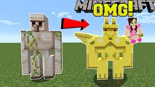 Minecraft: NEW IRON GOLEM?! (FLYING GARGOLYES WITH ABILITIES!) Mod Showcase