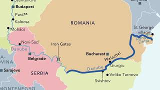 Animated map of European river itineraries