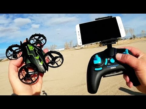 JXD 515W Invaders Micro FPV WiFi Whoop Drone Flight Test Review