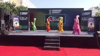 Dav university bhangra at CU fest 2k18