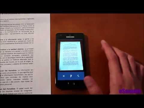 Cómo convertir nuestro móvil en un escáner en pdf para documentos: CamScanner