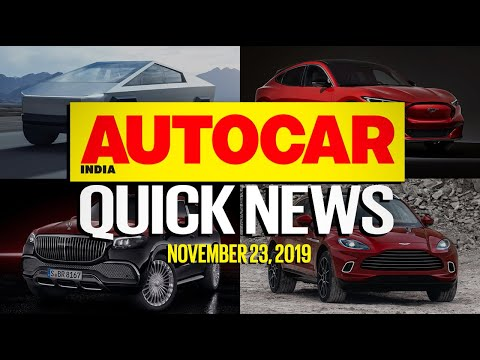 New BS6 cars, Tesla Cybertruck, Aston Martin DBX and more | Quick News | Autocar India