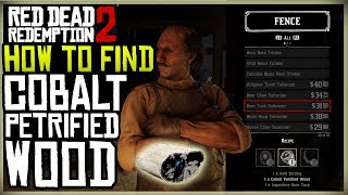 HOW TO GET THE COBALT PETRIFIED WOOD FOR THE BOAR TUSK TALISMAN - RED DEAD REDEMPTION 2