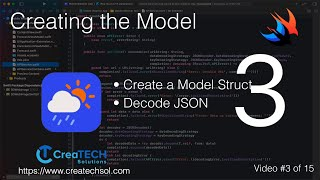 Swift Weather App 3: Creating the Model from JSON