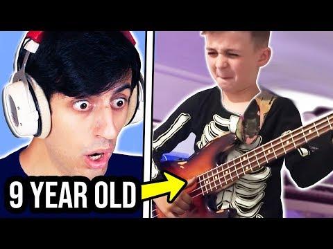 [הילד היומי] בני 9 מנגנים בס, יותר טוב מכם?