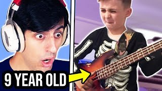This 9 Year Old Bassist Plays Better Than Me??