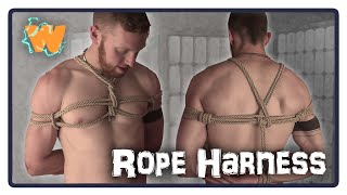 Japanese Rope Bondage Chest Harness
