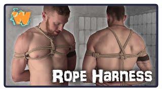 Japanese Rope Bondage Chest Harness