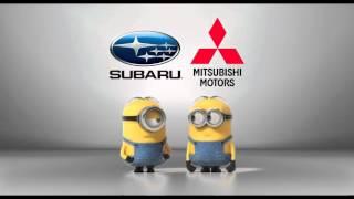 Subaru vs. Mitsubishi Minions Style