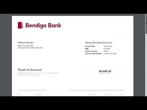 Proof of Account e-banking