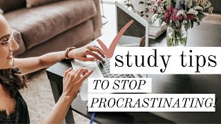 How to stay focused and stop procrastinating at home | #StayHome and study!