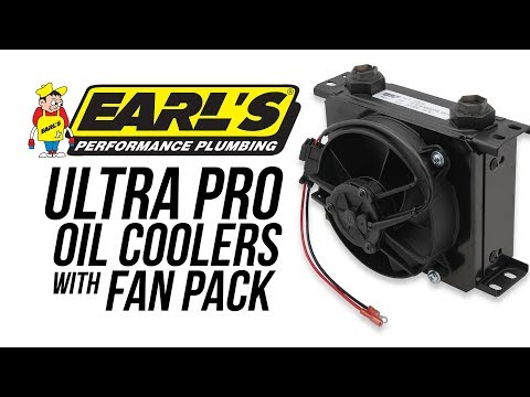 Earl's UltraPro Oil Coolers with Fan Pack