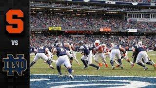 Syracuse vs. Notre Dame Football Highlights (2018)