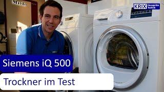 Siemens Wärmepumpentrockner iQ500 im Test