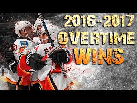 Calgary Flames Overtime Wins - 2016/2017 Season