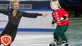 СЫН ПЛЮЩЕНКО: 3-х летний Саша (Гном Гномыч) тренируется на льду!