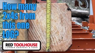 Milling 2x4 lumber on the sawmill