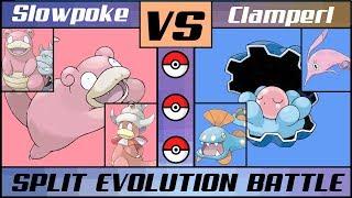 Clamperl  - (Pokémon) - Split Evolution Battle: SLOWPOKE vs. CLAMPERL (Pokémon Sun/Moon)