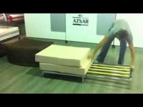 Pouff cama en Colchones Aznar.