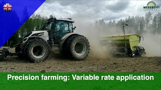 Precision farming: sowing canola with variable rate application