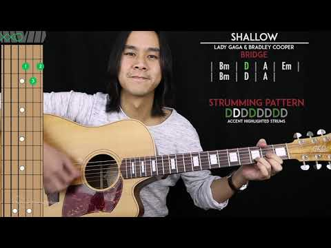 Shallow Guitar Cover - Lady Gaga & Bradley Cooper 🎸 |Tabs + Chords| Mp3