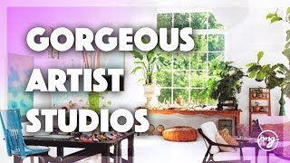 Top 10 Art Studio Spaces (Lofts, She Sheds, Creative Space Ideas)