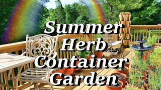 Summer Herb Container Garden, Basil Tips, Green Stalk, Cuttings, More