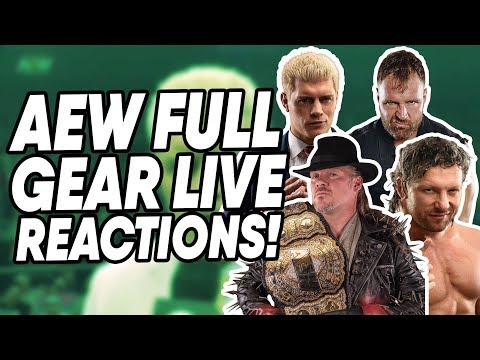 AEW Full Gear LIVE Reactions! | WrestleTalk
