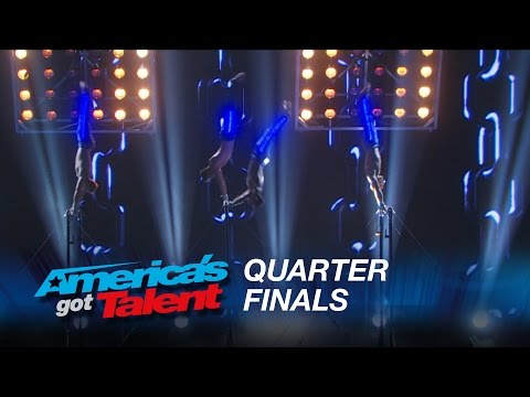 Showproject: Shirtless Gymnasts Perform to Nick Jonas Hit – America's Got Talent 2015 #AGT