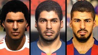 Luis Suarez evolution from PES 6 to PES 2020