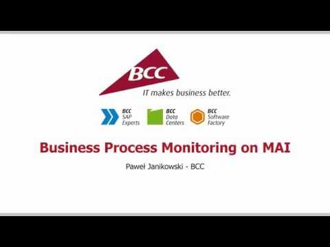 SAP Solution Manager – Business Process Monitoring
