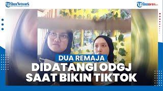 Viral Video Dua Remaja Didatangi ODGJ saat Sedang Buat Video TikTok