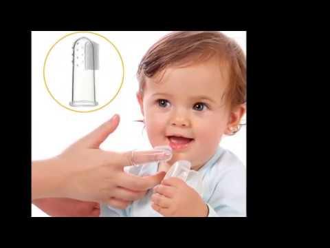 Baby Silikon Finger Zahnbürste Kinder Kleinkinder Zahnpflege Sauber Massage
