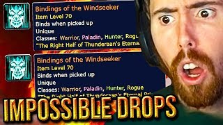 Asmongold Reacts To IMPOSSIBLE Double Legendary Bindings Drop & Kungen VS Classic WoW Difficulty