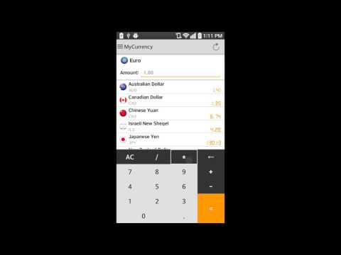 Video of My Currency Converter