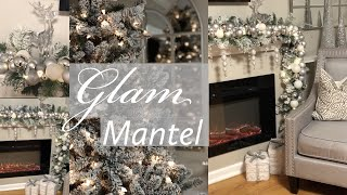 DIY GLAM  CHRISTMAS MANTEL GARLAND || WHITE & SILVER || 2018
