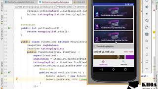 Bài 36: Bắt sự kiện item của playlist chuyển dữ liệu qua màn hình danh sách bài hát