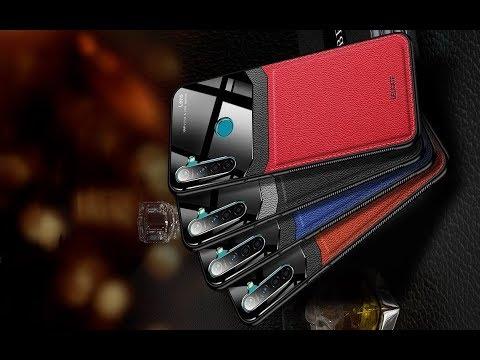 Очень красивый чехол для смартфона Xiaomi Redmi Note 8 Note 8 Pro и Note 8T. Кожа и стекло