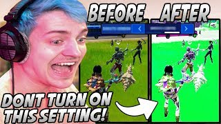 Ninja Makes A HUGE MISTAKE After Turning On A SECRET SETTING In Fortnite That Made Him NAUSEOUS!