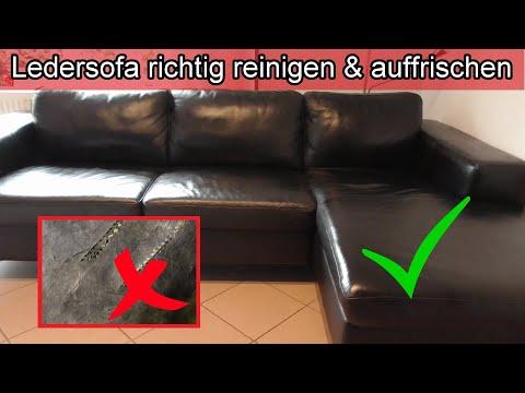 Ledersofa richtig reinigen & auffrischen Leder Couch pflegen Sofa sauber machen Hausmittel Kernseife